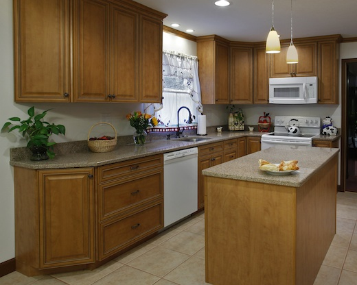 after all new custom kitchen cabinets