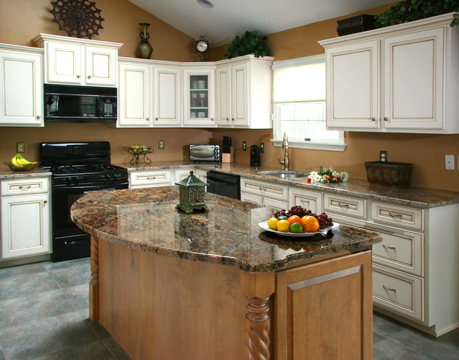kitchen with cabinet refacing