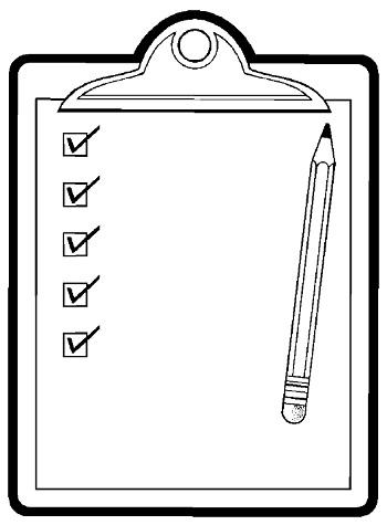 5 things checklist