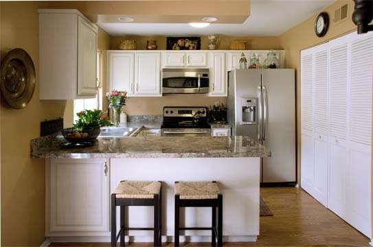 White Cabinets In A Small Kitchen