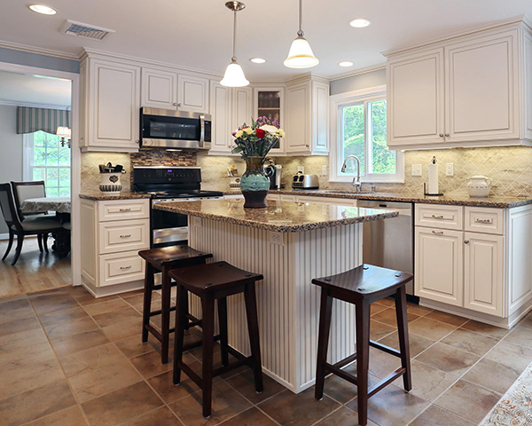 Gray Corian Countertops With White Cabinets Decorating Ideas