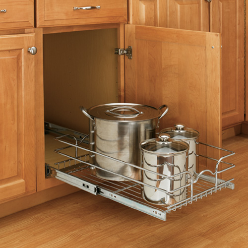 pull-out shelving in kitchen