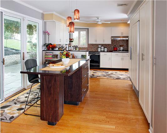 Modern Kitchen Desk Addition