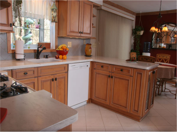 Kitchen With Corian Witch Hazel Countertop
