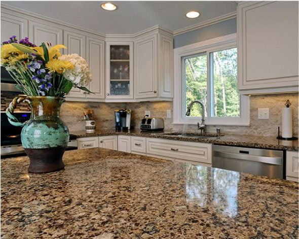 Kitchen with Cambria Canterbury countertop in focus
