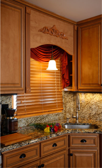 Under-Cabinet Light and Over-Sink Cabinets