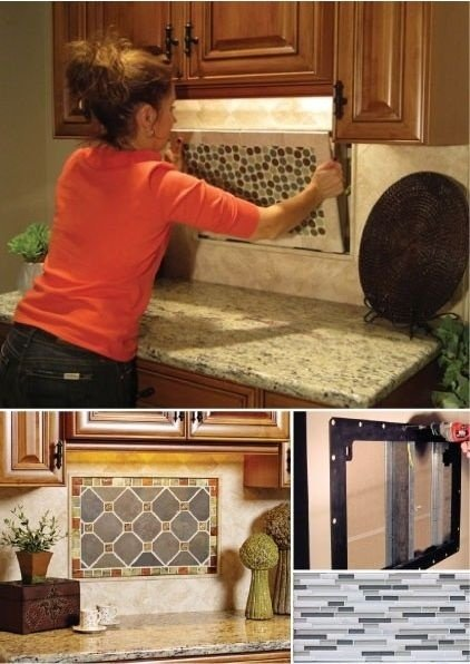 interchangeable backsplash installation