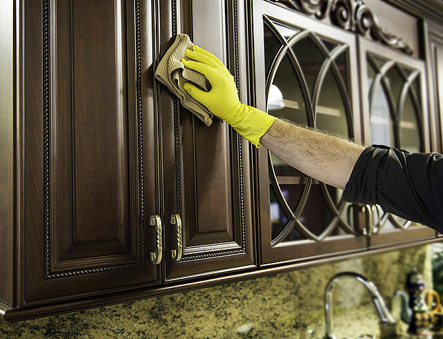 how to clean your cabinets