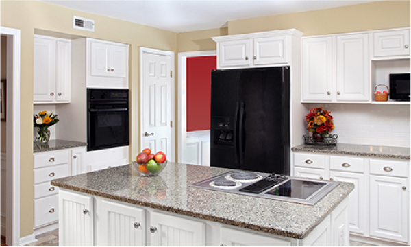 beautiful kitchen remodel with frosty white cabinets