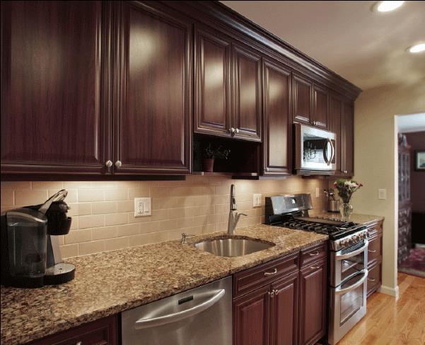 Lovely Dark Kitchen Cabinets