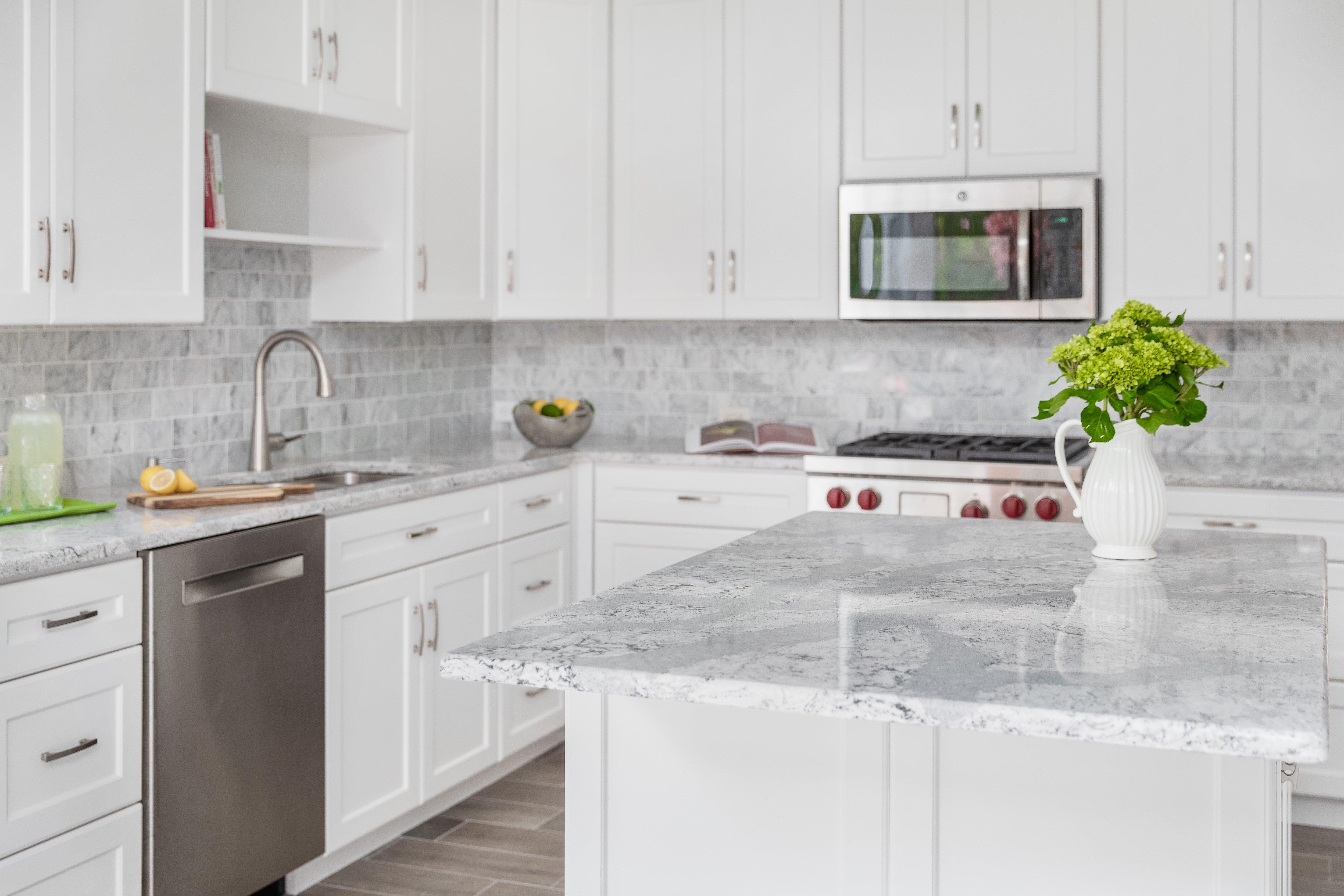 All white minimalistic coastal kitchen
