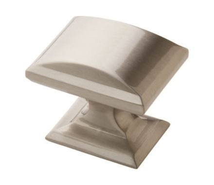 Candler Satin Nickel Rectangular Knob