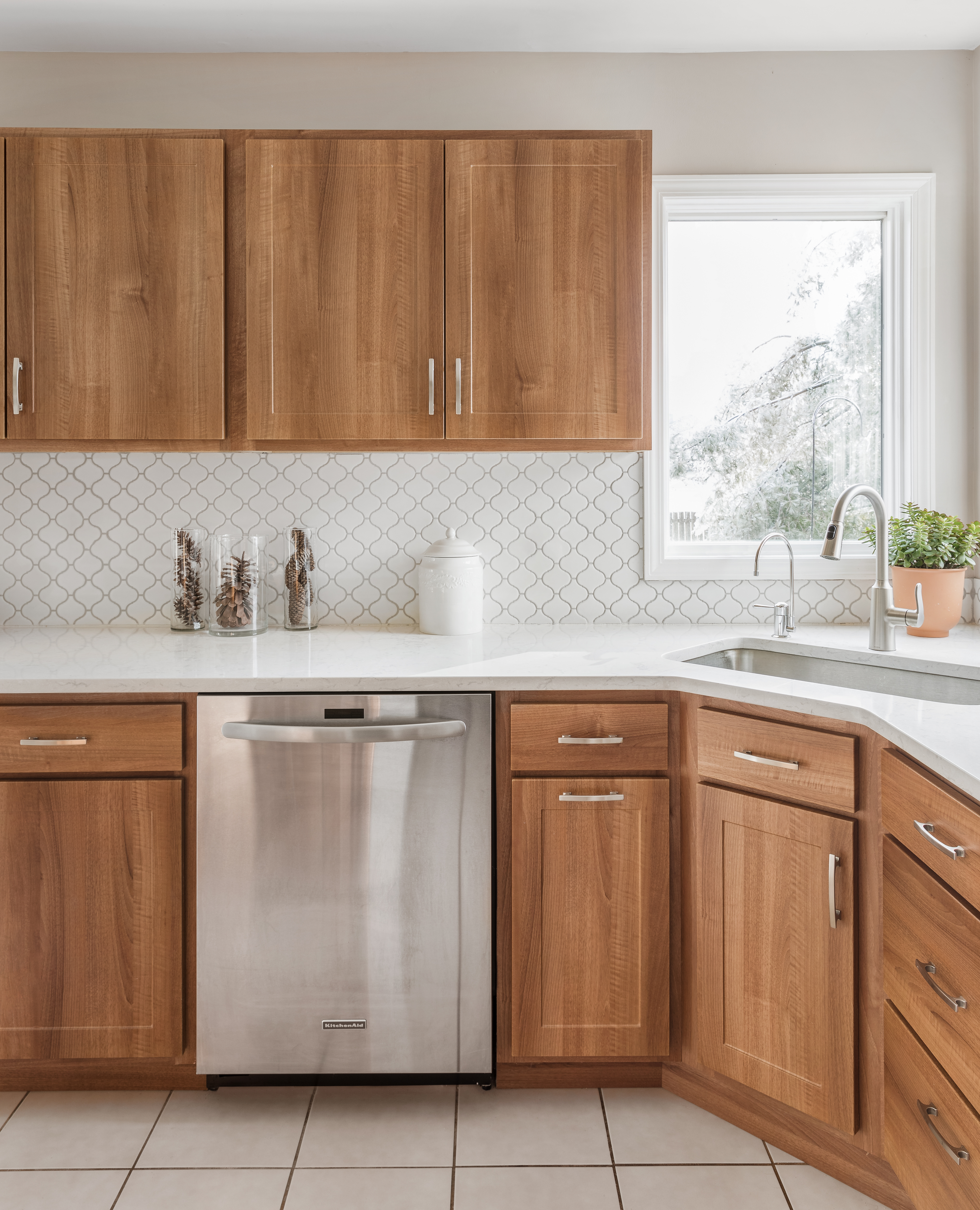 Wood inspired Cabinet Refacing