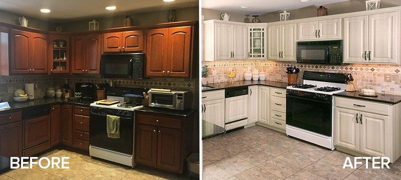 Amazing Kitchen Refacing Transformations With Before After Photos
