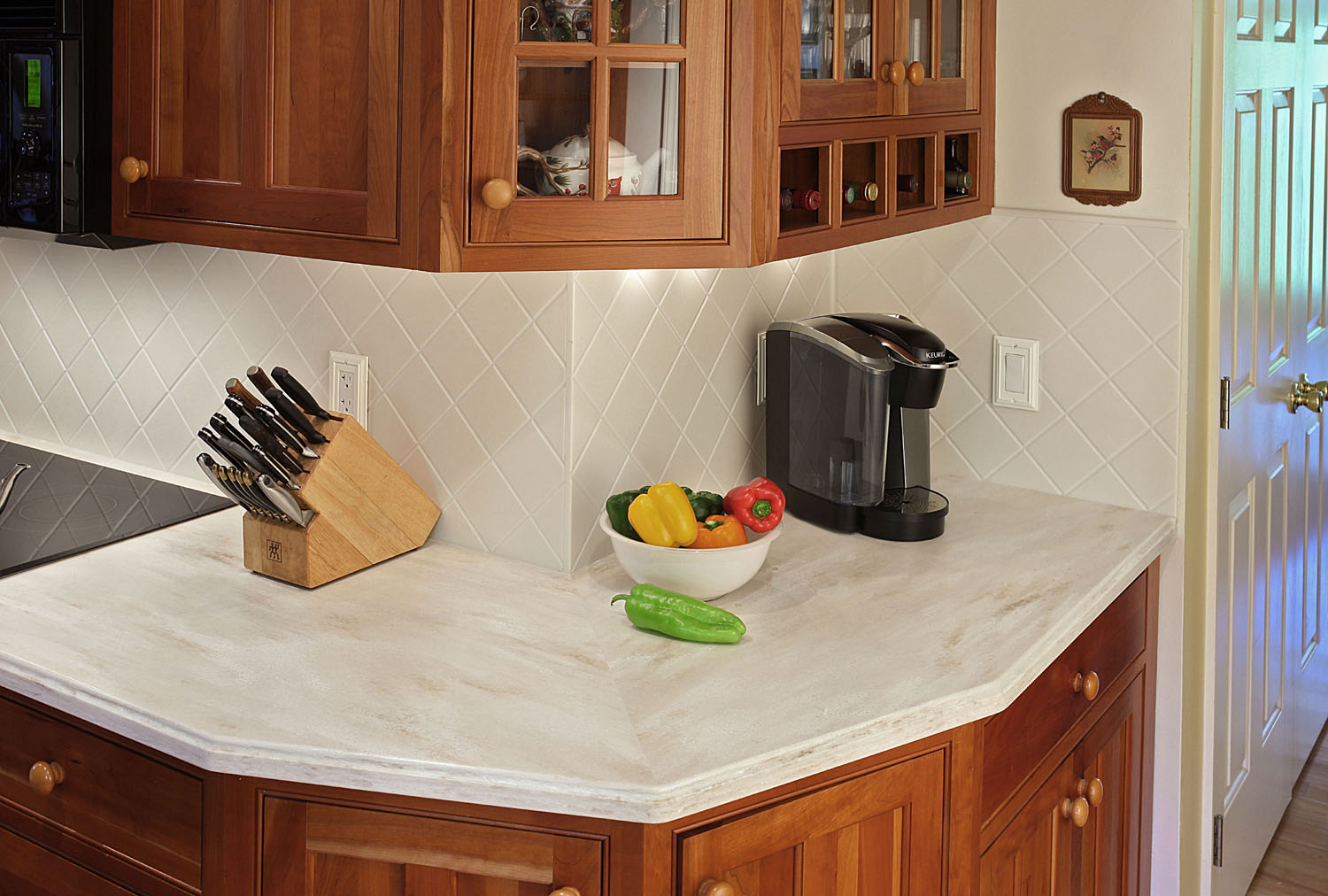 Solid Surfaces countertop made of Carian