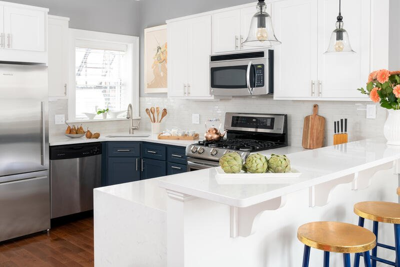 Por Kitchen Colors With White Cabinets