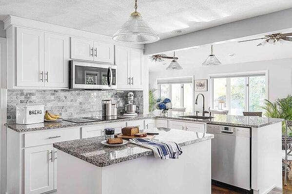 Granite Countertop with White Cabinets