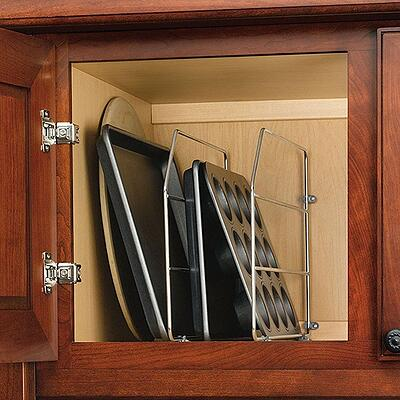 Kitchen Cabinet Organizing Bakewar and Tray Divider