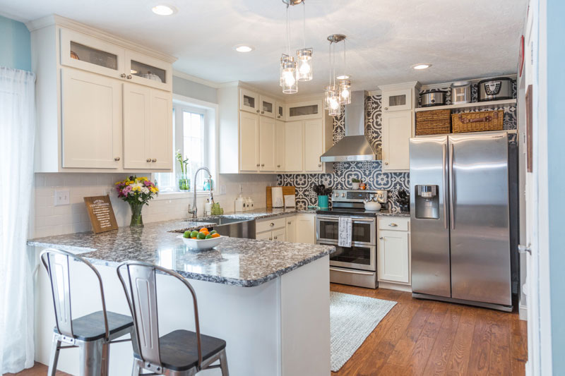 Cabinet Refacing White Kitchen After Photo