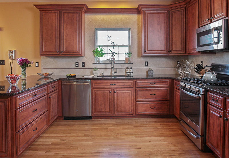 Kitchen After Cabinets Were Refaced