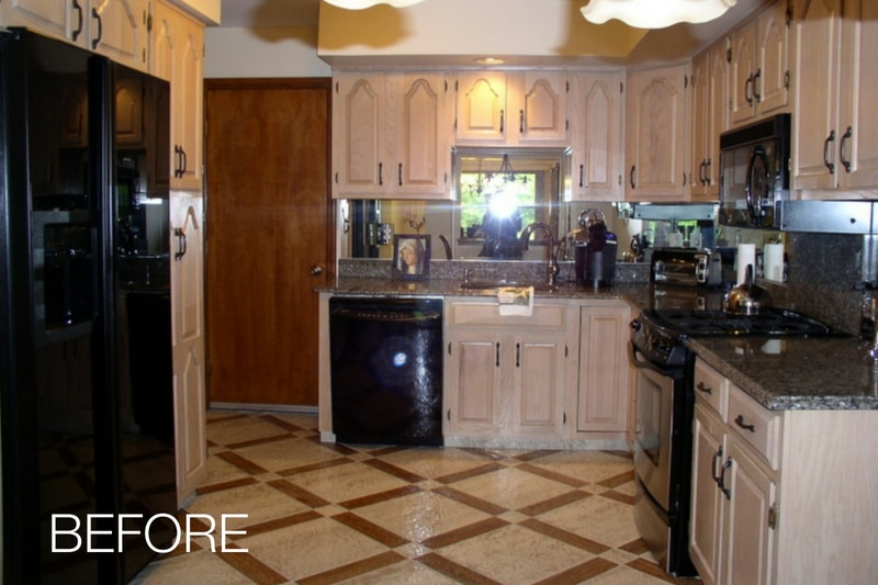 Cabinet Refacing Kitchen Remodel Before