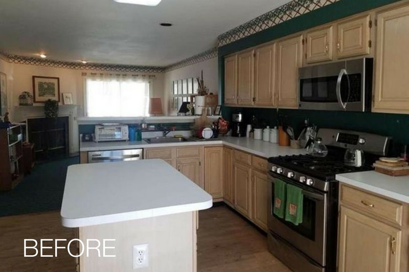 Refaced Cabinets Before Photo