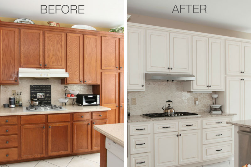 refinished kitchen cabinets before and after 8 amazing refacing transformations before amp after photos 25289