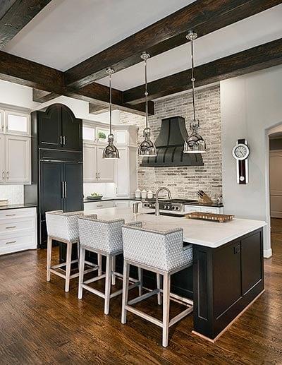 Art Deco Kitchen Color Contrast