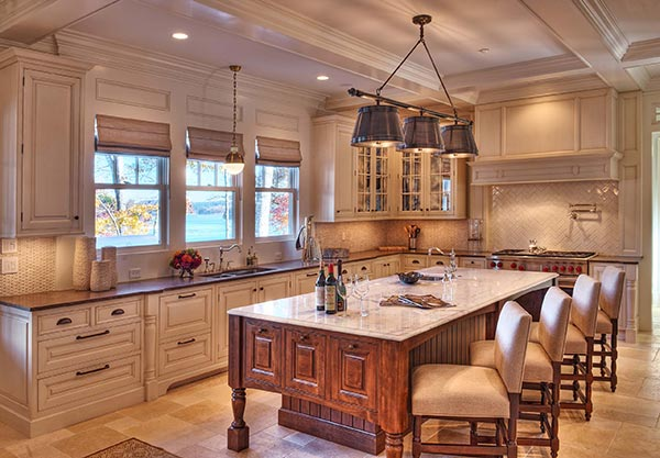 granite and marble countertops in kitchen