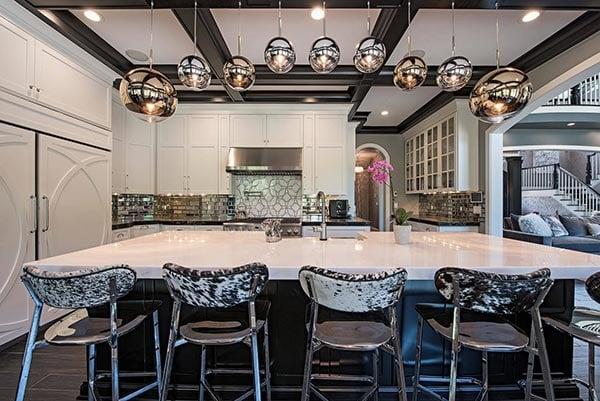 Metallic Art Deco Kitchen