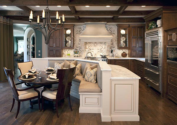 banquette kitchen seating
