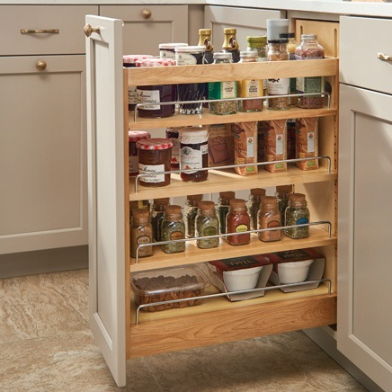 Kitchen Base Cabinet Roll-Out Organizer