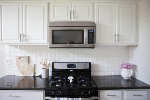 beveled backsplash subway tile