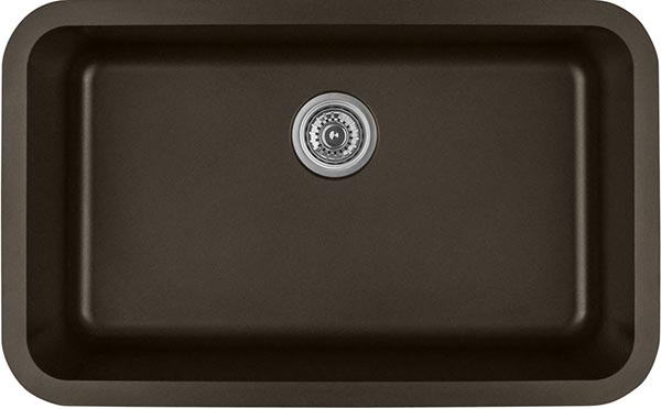 brown quartz kitchen sink