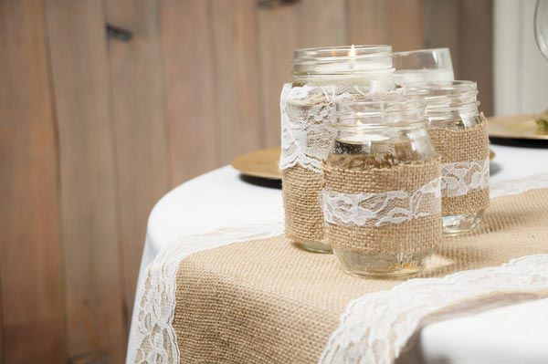 mason jar kitchen candle decor