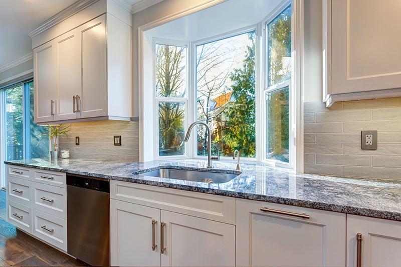 White Laminate Cabinet Refacing