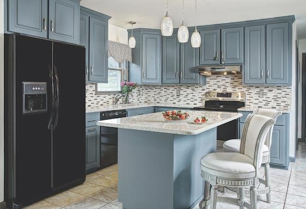 cadet blue kitchen design