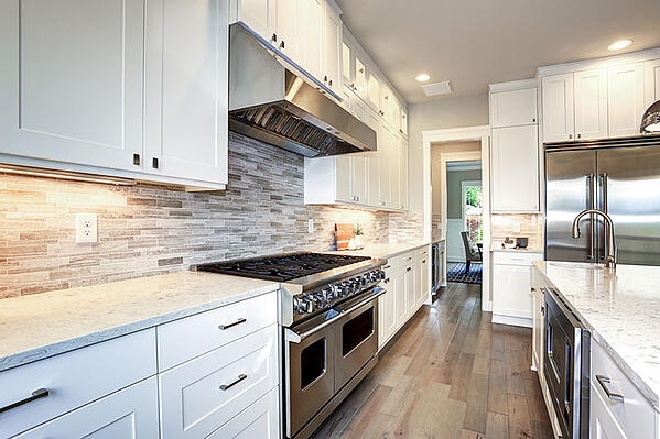 Clean White Kitchen Cabinets