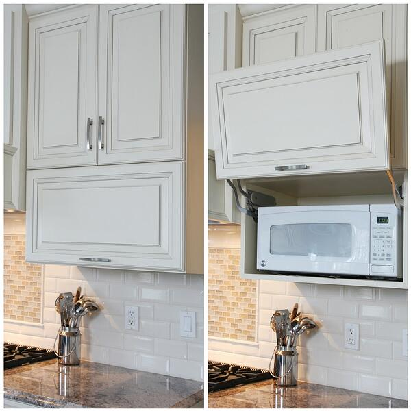 Microwave Appliance Cabinet