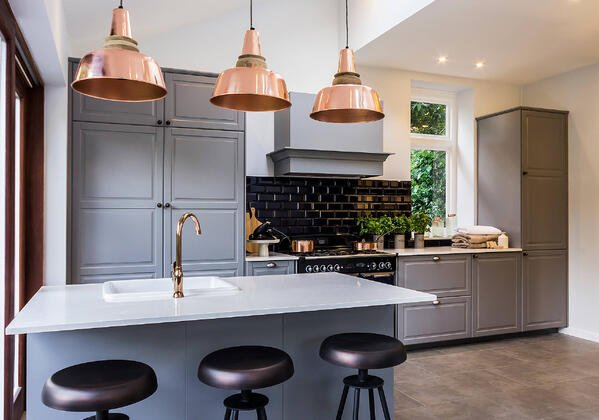 Copper accents in the kitchen