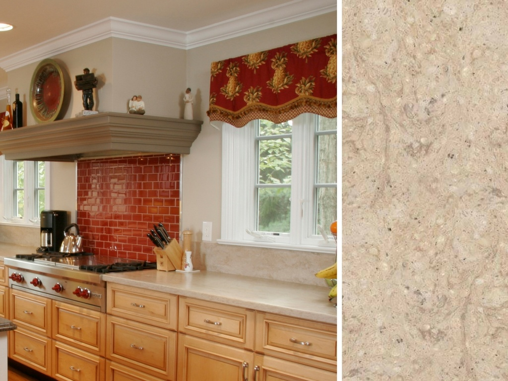 Maple Kitchen with Corian® Countertop in Tumbleweed