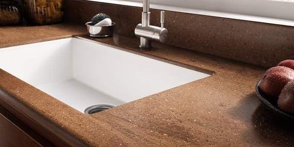 Seamless Sink Integration using Corian