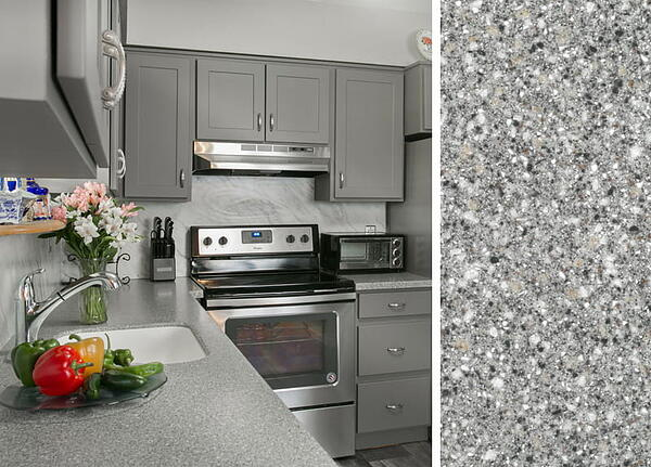Gray Kitchen Cabinets With Granite Countertops how to pair countertops with gray cabinets