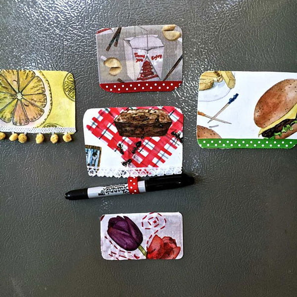 DIY Fabric Magnets