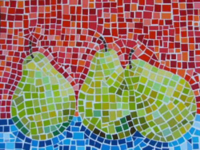 Paint Chip Mosaic Artwork