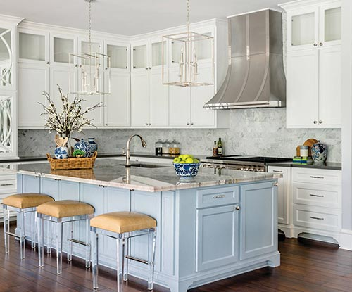 two countertops in kitchen