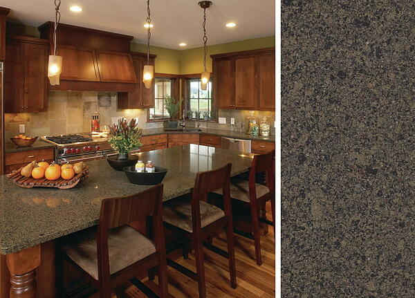 Wood Kitchen Cabinets with Cambria Countertop