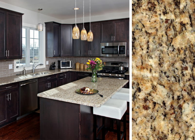How to Pair Countertop Colors with Dark Cabinets on Maple Cabinets With Black Granite Countertops  id=33541