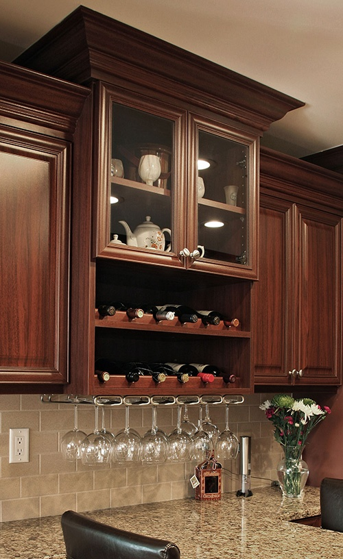 Kitchen Display Cabinets With Glass Window Front And Wind Storage