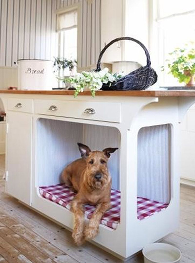 Built-In Kitchen Dog Bed
